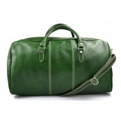 Sac de voyage en cuir homme femme bandoulière en cuir véritable sac de sport sac bagage à main vert
