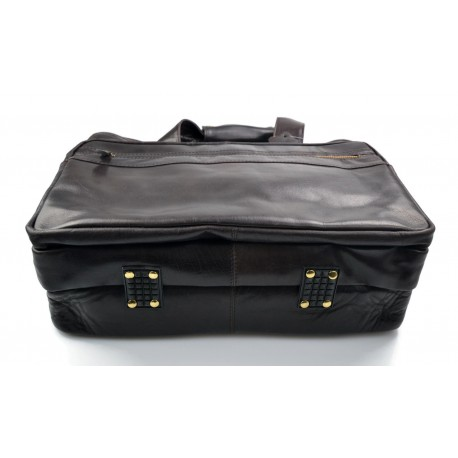Borsone uomo donna borsa viaggio con manici e tracolla vera pelle 9f6256e3c26