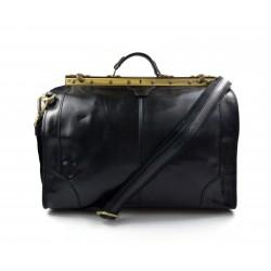Sac docteur voyage en cuir doctor bag cuir sacoche femme homme noir sac à main en cuir sac femme