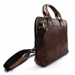 Ladies leather handbag doctor bag handheld shoulder bag black brown dark brown made in Italy genuine leather bag