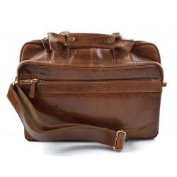 Leather shoulder messenger bag ipad laptop brown women men notebook bag