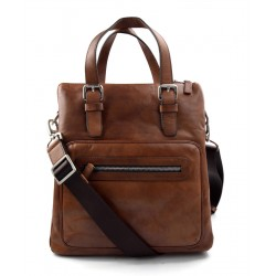 Leather notebook bag satchel messenger men ladies bag handbag brown shoulder bag ipad tablet bag