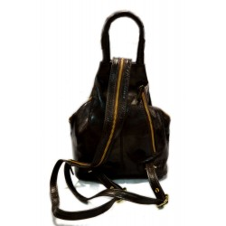 Leather backpack ladies mens lether travel bag weekender sportsbag honey