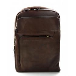 Sac à dos en cuir italien marron foncè sac à dos en cuir homme femme