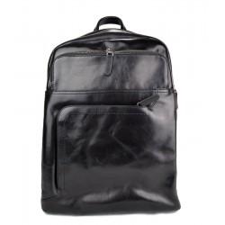 Sac à dos en cuir italien noir sac à dos en cuir homme femme