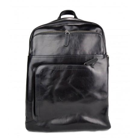 comprare popolare dde94 35147 Zaino nero pelle vitello uomo donna borsa palestra zaino scuola zaino lavoro