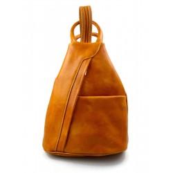 Sac à dos bandoulière en cuir sac homme femme jaune