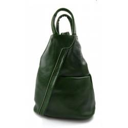 Sac à dos bandoulière en cuir sac homme femme vert