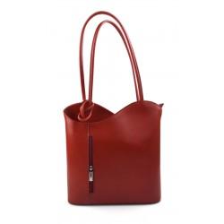 Sac à dos femme rouge sac d'èpaule sac à main en cuir