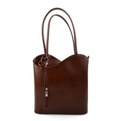 Ladies handbag brown leather bag clutch hobo bag backpack