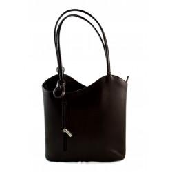 Ladies handbag dark brown leather bag clutch hobo bag backpack