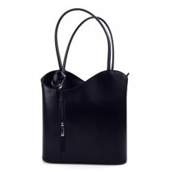 Ladies handbag blue leather bag clutch hobo bag backpack