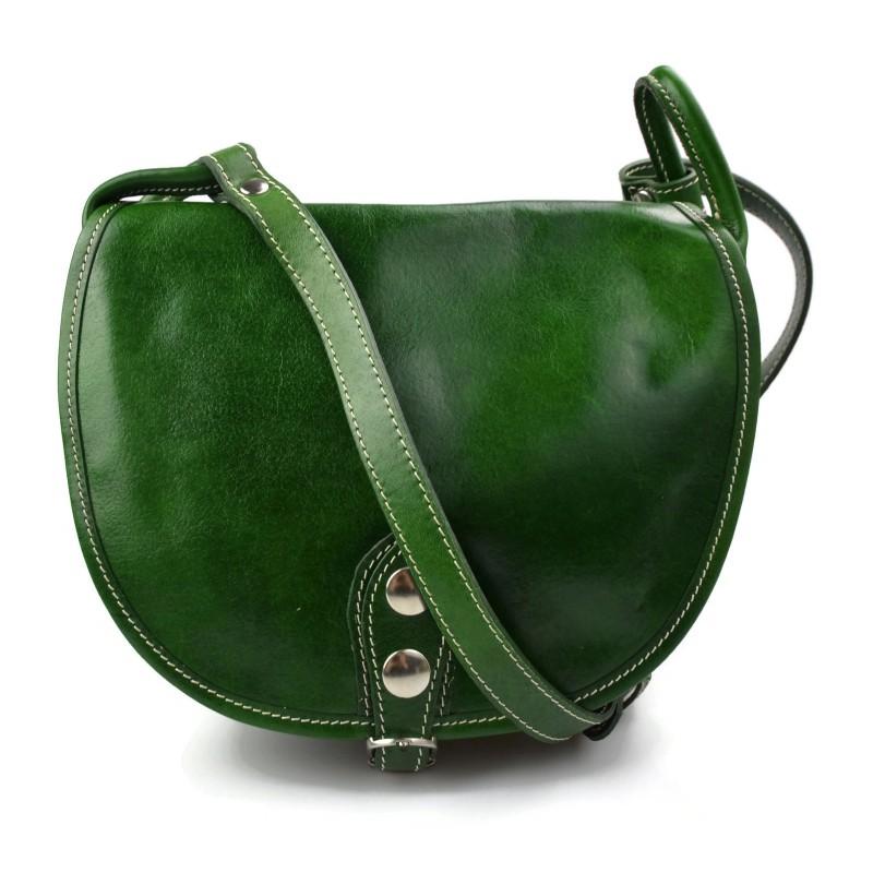 7b58d2407 Bolso de mujer de piel bandolera de cuero verde bolso de espalda bolso de  cuero ...