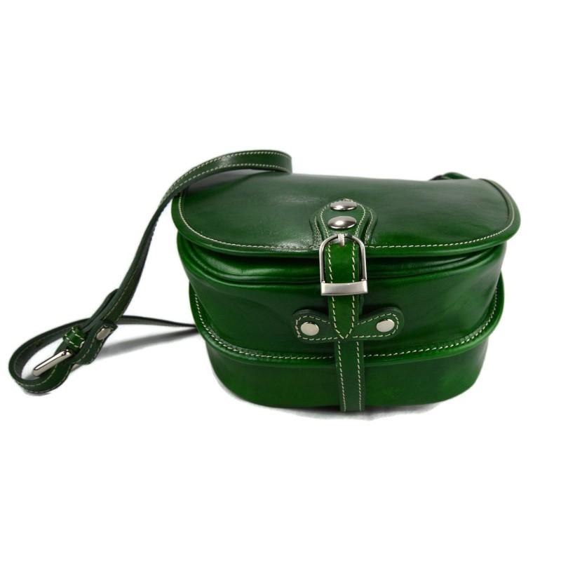 1b9eff3ee ... Bolso de mujer de piel bandolera de cuero verde bolso de espalda bolso  de cuero