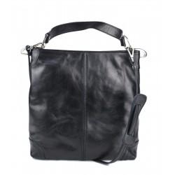 Leather ladies handbag shoulder bag luxury leather bag black