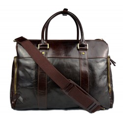 Leather notebook tablet bag mens ladies handbag shoulder bag dark brown