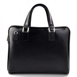 Women leather shoulder bag genuine italian leather handbag black