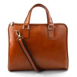 Women leather shoulder bag genuine italian leather handbag honey