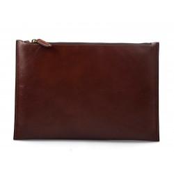 Borsa clutch pelle marrone clutch pelle grande borsa sera pelle pochette pelle borsa in pelle