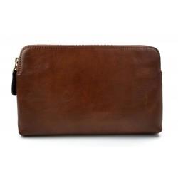 Borsa clutch pelle marrone clutch pelle grande borsa sera pelle pochette pelle