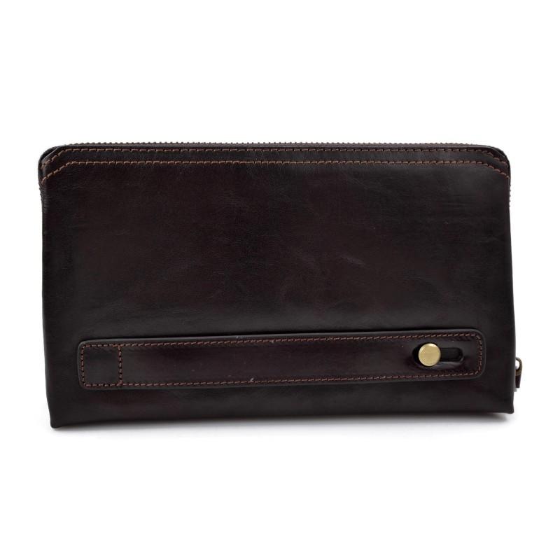 651d6d97bac36e Sac pochette pochette cuir sac à main cuir marron fonce sac femme