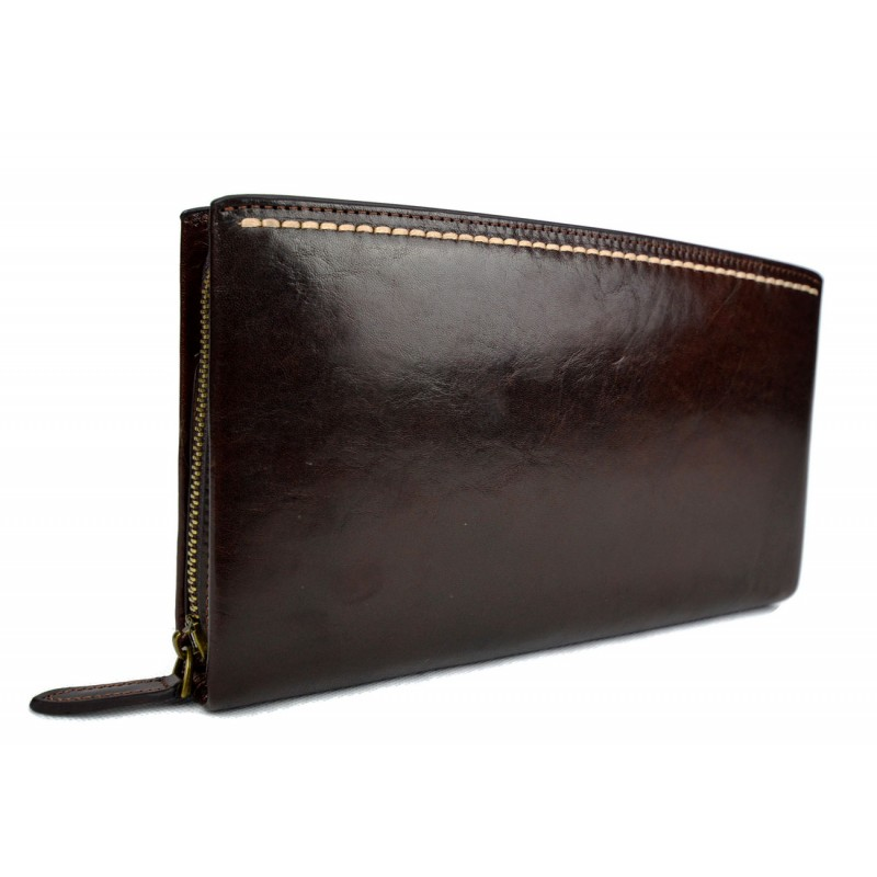 476a36c92dca05 Sac pochette pochette cuir sac à main cuir sac de soirée marron foncè