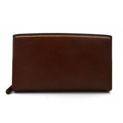 Borsa clutch pelle clutch pelle grande borsa sera pelle pochette pelle marrone