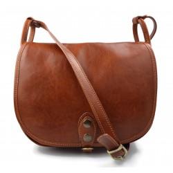 Borsa donna pelle tracolla a spalla miele vera pelle hobo bag made in Italy