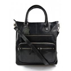 Leder schwarz damen handtasche ledertasche