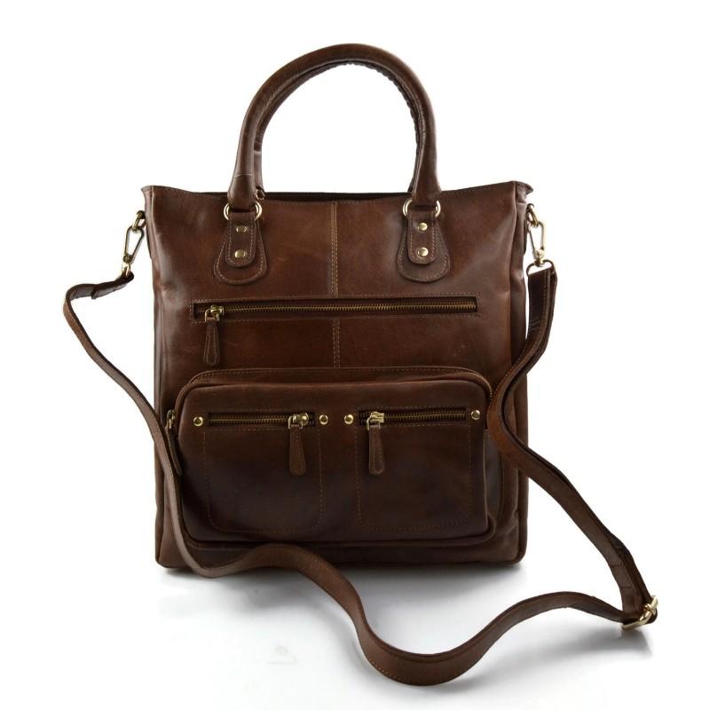 14671492f274 Ladies buffalo leather brown handbag womens shoulder bag