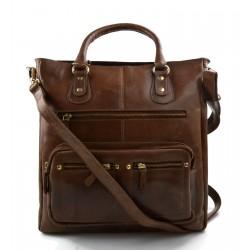 Ladies buffalo leather brown handbag womens shoulder bag