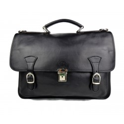 Briefcase leather office bag backpack shoulder bag conference bag mens business black