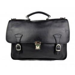 Carpeta de cuero bolso de hombre bolso de mujer mochila de piel bolso de cuero messenger negro