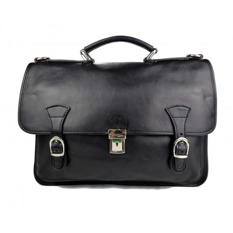 Briefcase leather office bag backpack shoulder bag conference bag mens business black