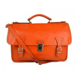 Briefcase leather office bag backpack shoulder bag conference bag mens business orange