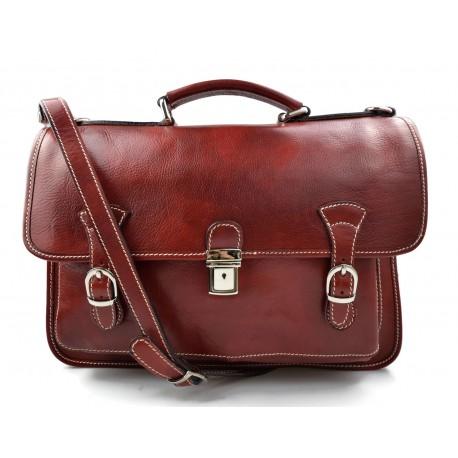 Sac à main cuir bandoulière sac en cuir sac homme sac à bandoulière homme messenger rouge