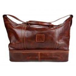 Sac de voyage en cuir homme femme bandoulière en cuir véritable sac sport marron