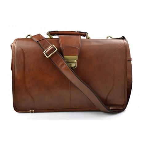 Doctor bag leather mens doctor bag XXL handbag ladies medical bag brown