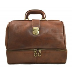 Doctor bag brown leather retro bag doctor bag for men women medical bag retro bag