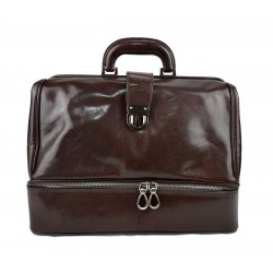 Doctor bag dark brown leather retro bag doctor bag for men women medical bag retro bag