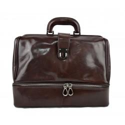 Sac cuir docteur marron foncè sac doctor bag sac à main cuir serviette sac cartable docteur cuir marron