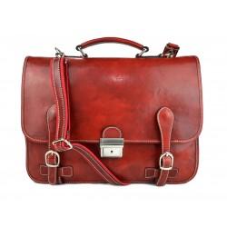 Sac homme femme en cuir traverser sac à main rouge