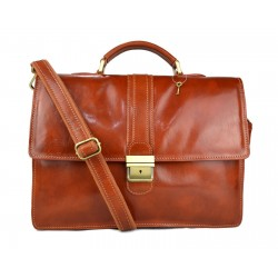 Leather briefcase mens ladies office handbag shoulderbag messenger business bag satchel honey leather executive bag