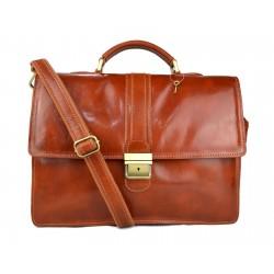 Leather briefcase mens ladies office handbag shoulderbag messenger business bag satchel honey leather executive bag