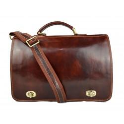 Sac à main cuir vèritable organisateur sacoche serviette sac de travail sac cartable marron