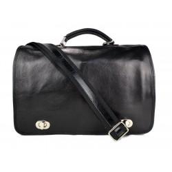 Leather mens messenger women messenger leather bag mens leather bag shoulder bag black