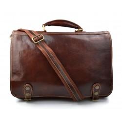 Leather messenger bag office bag mens business shoulder bag satchel xxl brown