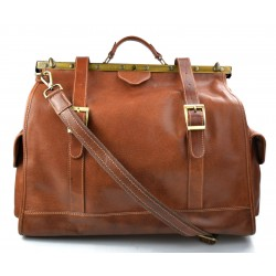 Leather doctor bag mens travel matt brown womens cabin luggage bag leather shoulder bag