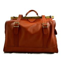 Leather doctor bag mens travel honey womens cabin luggage bag leather shoulder bag