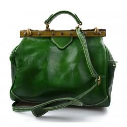 Bolso mujer de cuero doctor bag bolso doctor en piel bolso de espalda verde